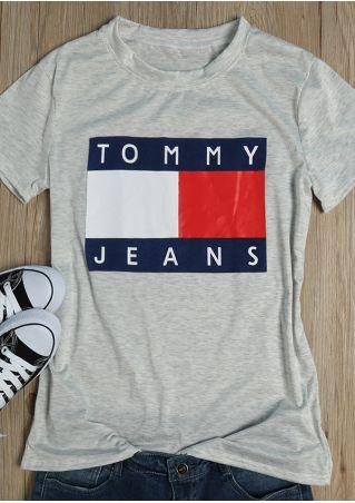 Letter Printed Fashion T-Shirt