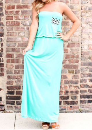 Off Shoulder Pocket Maxi Dress