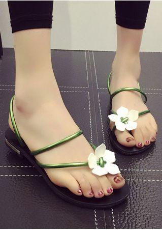 Summer Flower Flat Sandals