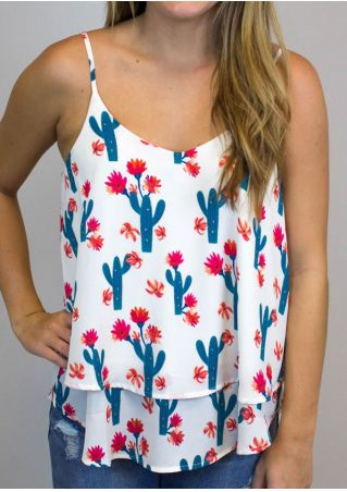 Floral Cactus Layered Camisole