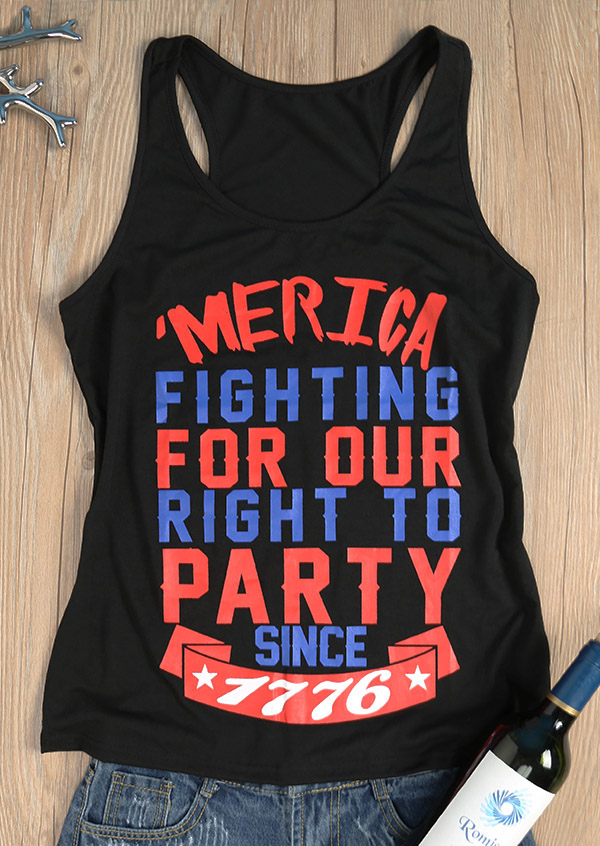 'Merica Fighting For Our Right To Party Tank