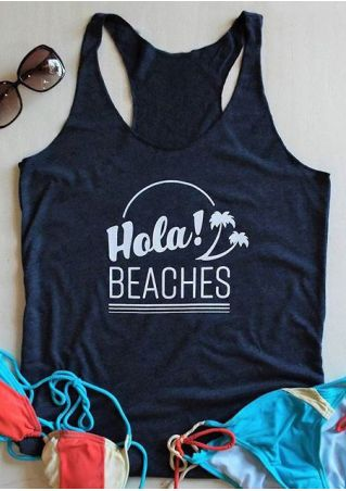 Hola Beaches O-Neck Sleeveless Tank