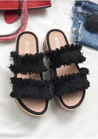 Summer Chunky Wedge Sandals