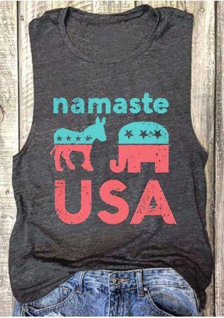 Namaste USA Star O-Neck tank