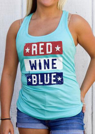 red wine and blue star tank