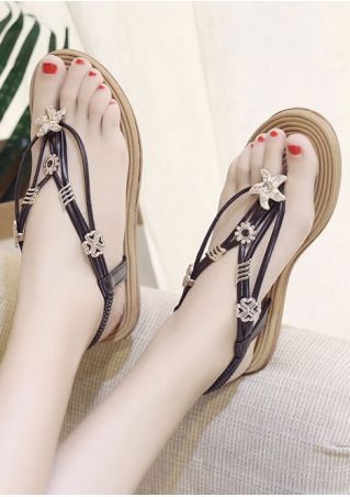 Summer Elastic Band Flat Sandals