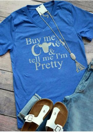 Buy Me Cows V-Neck T-Shirt