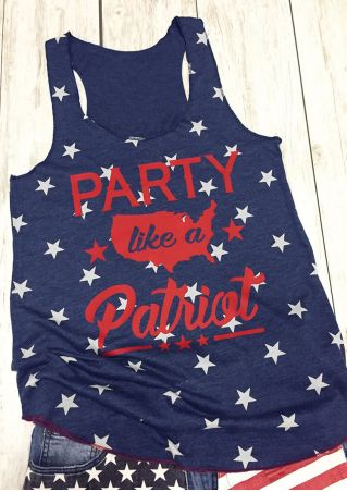 Party Like A Patriot Star Tank