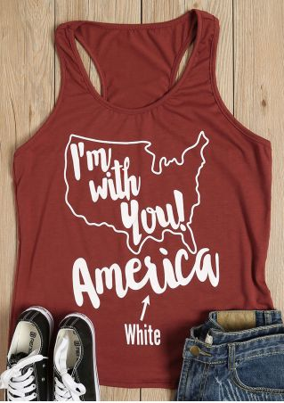 I'm With You America Tank