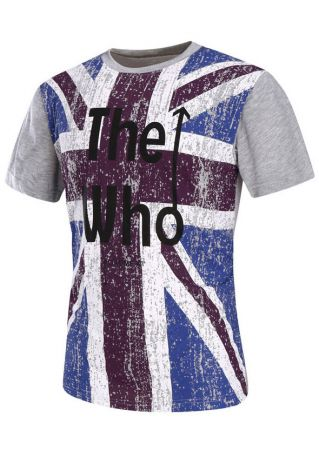 The Who British Flag Printed O-Neck T-Shirt