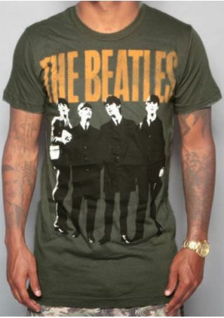 Men The Beatles O-Neck Short Sleeve T-Shirt