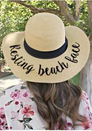 Resting Beach Face Straw Hat