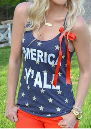 'Merica Y'all O-Neck Tank without Necklace