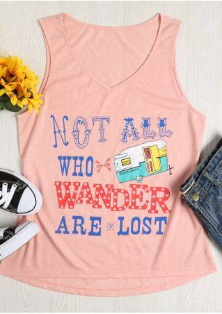 Not All Who Wander Are Lost V-Neck Tank