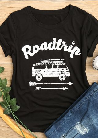 Road Trip Arrow O-Neck T-Shirt