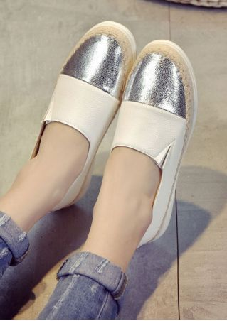 Splicing Slip-On Round Toe Flats