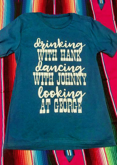 Drinking Dancing Cooking O-Neck T-Shirt 136661