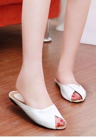Summer Solid Flat Sandals