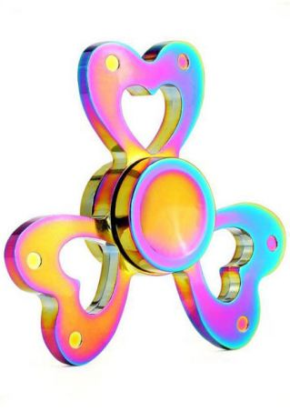 Heart-Shaped Colorful Finger Fidget Spinner