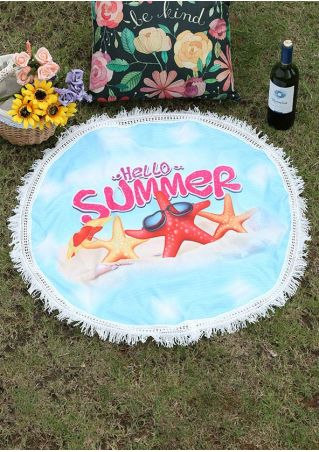Starfish Summer Beach Blanket