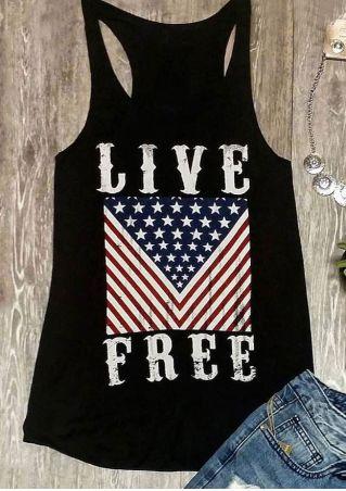 Live Free Star O-Neck Tank