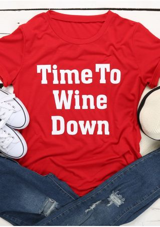 Time To Wine Down O-Neck T-Shirt