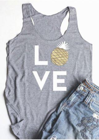 Love Pineapple O-Neck Tank