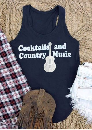 Cocktails And Country Music Tank