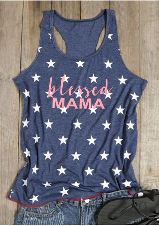 Blessed Mama Star Printed Tank