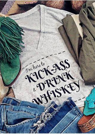 Kick-Ass & Drink Whiskey T-Shirt