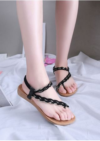 Summer Elastic Band Beard Flat Sandals