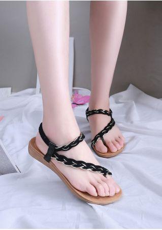 Summer Elastic Band Beard Flat Sandals