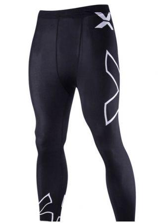 Printed Elastic Waist Sport Pants