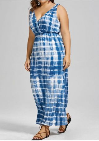 Tie Dye Sleeveless Maxi Dress