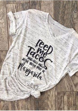 Feed Me Tacos V-Neck T-Shirt