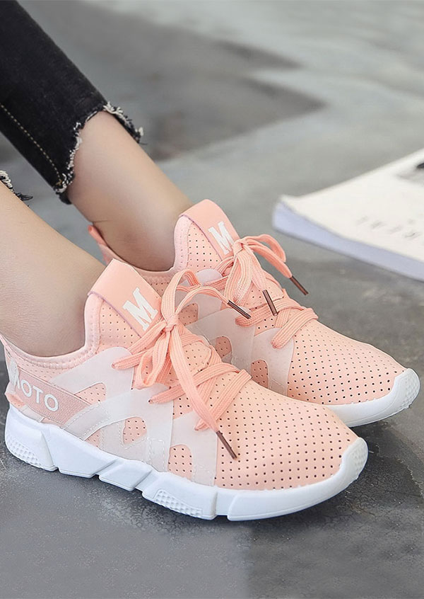 M Lace Up Breathable Flat Sneakers