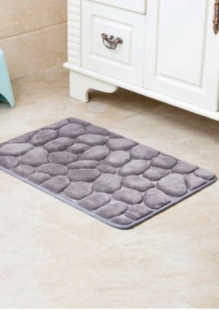 Solid Rectangle Antislip Bath Rug