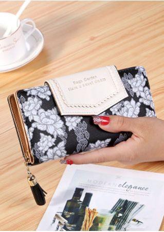 Bags Garden Floral Tassel Clutch Wallet