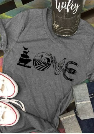 Love Farm Farming Farmer Agriculture T-Shirt