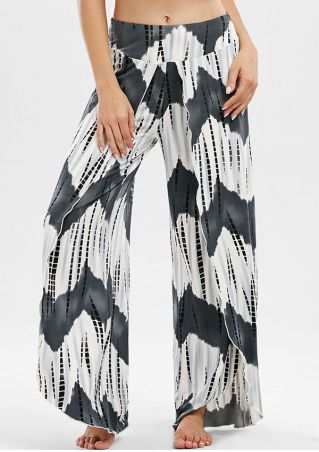 Zigzag Slit Wide Leg Pants