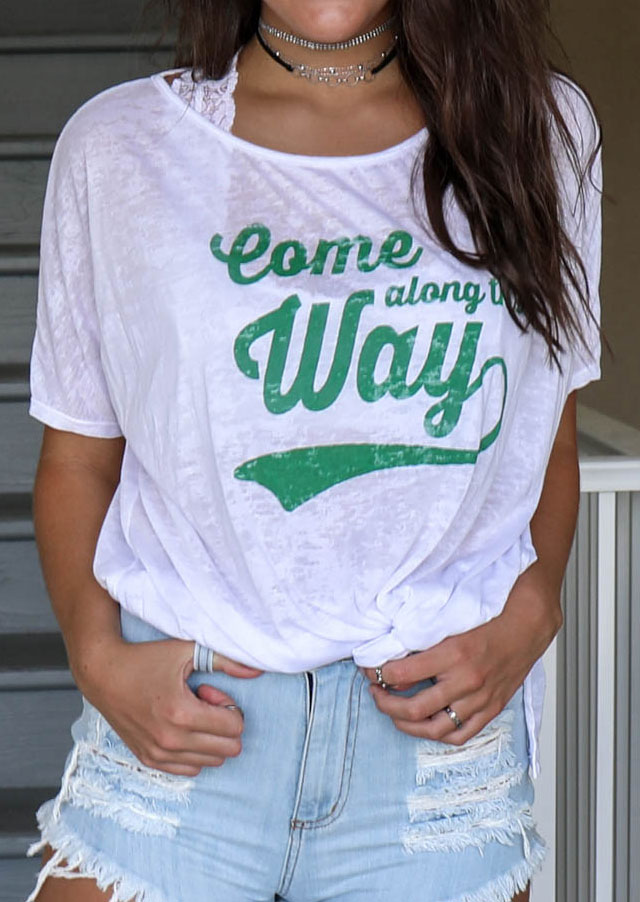 come along this way t-shirt without necklace