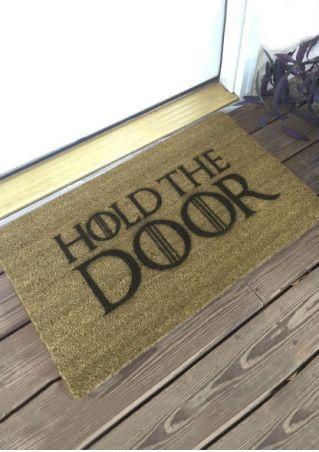Hold The Door Floor Rug