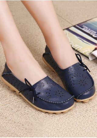 Hollow Out Tie Flats