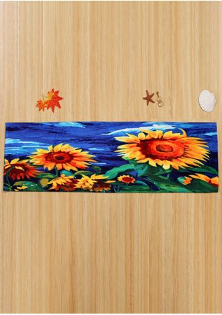 Sunflower Rectangular Antislip Floor Rug