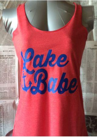 Lake Babe Anchor Printed Tank