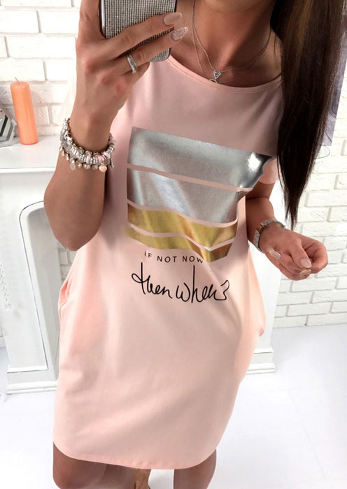 If Not Now Then When Mini Dress without Necklace 33243