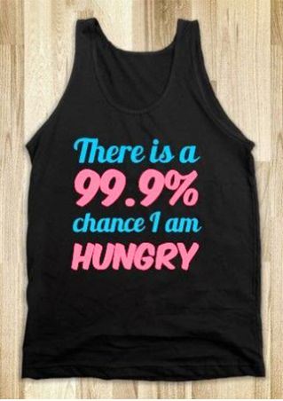 There Is A 99.9% Chance I Am Hungry Tank