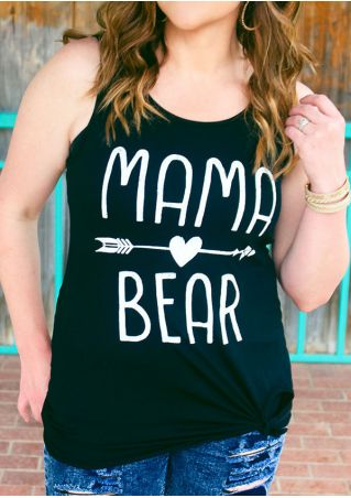 Mama Bear Arrow Printed Tank