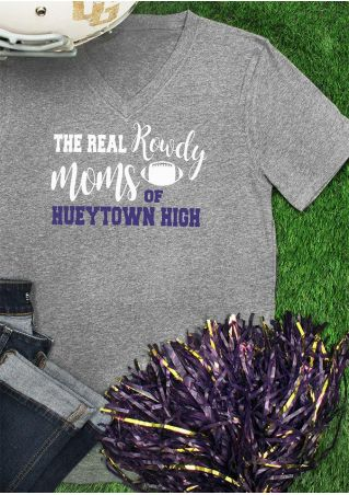 The Real Rowdy Moms V-Neck T-Shirt