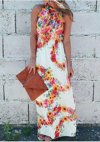 Floral Sleeveless Maxi Dress